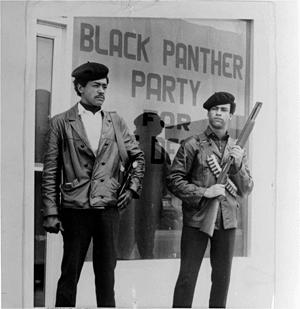 Bobby Seale (left) and Huey Newton